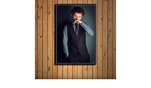 jiuyangshengong Tom Holland Filmschauspieler Star Spiderman Leinwand Malerei Poster Kunstdruck Retro Wandbild Dekoration Wohnkultur Rahmenlos 50X70Cm