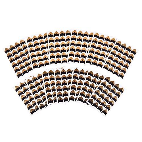 iGadgitz Home U7013 - Fotoecken Selbstklebend in verschiedenen Farben - Schwarz, Weiß, Gold oder Silber - Fotoecken zum Aufhängen, Fotoecken Aufkleber - Gold - 312 Stücke