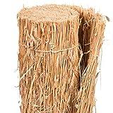 AFP Strohmatte Winterschutz Pfanzen, 100 x 150 cm/Naturmaterial / Stammschutz Bäume/Frostschutz Kübelpflanzen/Deko / 2 Jutesäckchen gratis