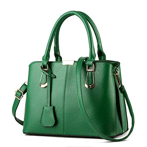 fanhappygo Fashion Retro Leder Abendtaschen Damen Schulterbeutel Umhängetaschen totes grün
