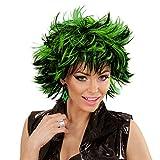 Perruque femme gothique Coiffure court femmes noir-vert cheveux de punk emo perruque de défilé dame chevelure de carnaval sexy postiche de sorcière vampiresse