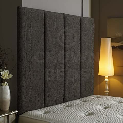 !EXCELLENT ALTON WALL HEADBOARD IN 2ft6,3ft,4ft,4ft6,5ft,6ft AND HEIGHT OPTIONS! (Grey, 5ft (kingsize)