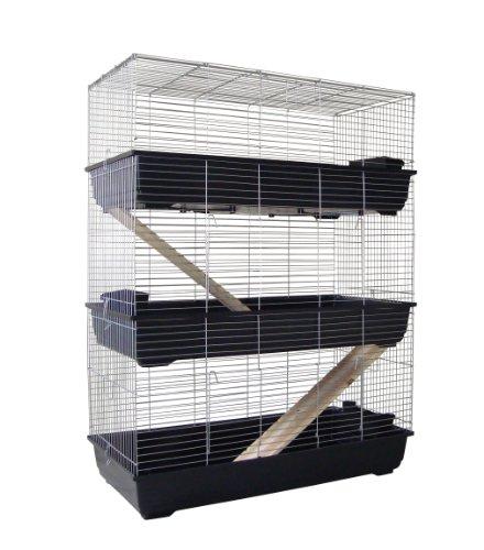 3 Stöckiger Nagerkäfig 120cm für Kaninchen oder Meerschweinchen