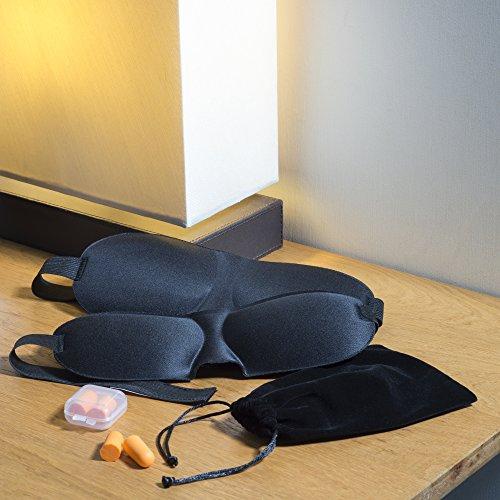 runesol ein die sleep zwei pack blackout augenmaske f r besseren schlaf eine konturierte. Black Bedroom Furniture Sets. Home Design Ideas