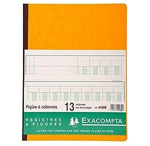 Exacompta 4130E Piqure 32/25 13 Colonnes 80 Pages