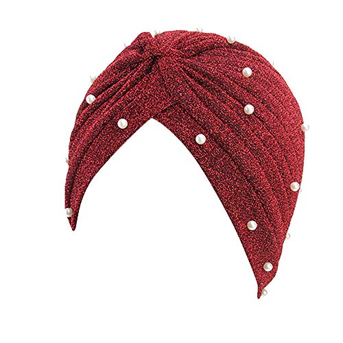 BESSKY Women Muslim Hat Retro Turban Hut ab Scarf Wrap Cap Frau Bright SeidenIndian Hat Retro Turban Hut