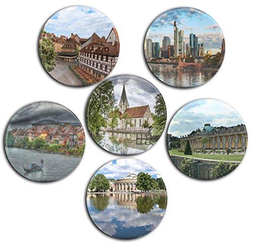 Merchandise for Fans Deutschland/Germany [03] Kühlschrankmagnete Ø 5 cm - Kühlschrank Deutschland Magnet