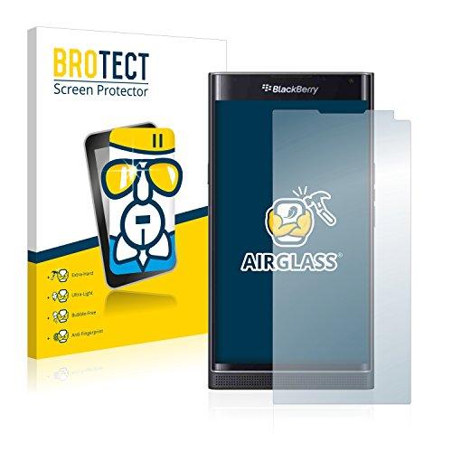 BROTECT AirGlass Flexible Glasfolie für BlackBerry Priv Panzerglasfolie Schutzfolie Glas Folie – Klar, Extrahart (Blackberry Geschnitten)