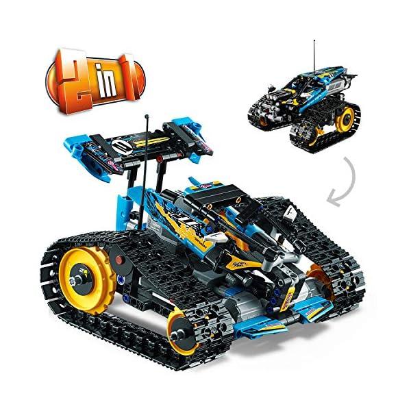 Lego - Technic Stunt Racer, Veicolo Telecomandato ad Velocità , Completamente Motorizzato, con Cingoli e Grandi Ruote… 4 spesavip
