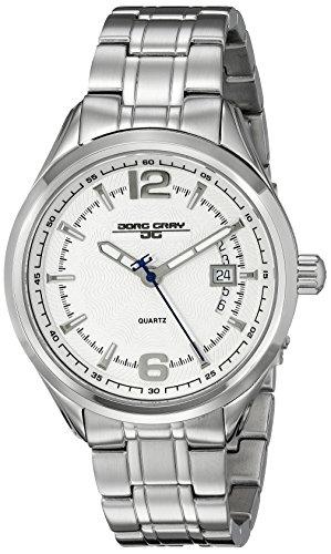 Jorg Gray JG6100-11 - Reloj analógico de cuarzo para hombre, correa de acero inoxidable color plateado