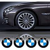 4 x 55 mm Durchmesser BMW Rad Mitte Kappen Aufkleber Self Adhesive Emblem Decals Billig