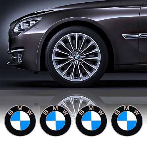 4 x 55mm Diametro BMW centro di rotella di Cap Emblem Sticker autoadesivo Per Piso Superfici prezzo poco costoso - Centro Di Rotella Cap