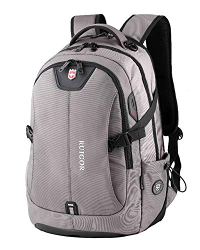 RUIGOR ICON 47 Robuster Trekking Rucksack Wasserabweisender Outdoor Rucksack 30l Laptop Tasche 15.6 Zoll Grauer Herren Arbeitsrucksack RG6147