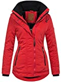 Golden Brands Selection Warme Damen Winter Jacke Winterjacke Kurzmantel Parka S-XXL B509 [B509-Rot-Gr.S]
