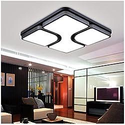 HomeLava Lámpara de Techo LED 24W Lámpara Led Iluminación Interior Luz Blanco Frío para para Salón / Dormitorio, Negro