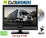 LED TV 16'Zoll 40cm DVB-C/S2/T2 DVD-Player 12V / 24V / 230Volt LKW TRUCK