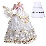 Nuoqi Damen Satin Gothic Viktorianisches Kleid Renaissance Maxi Kostüm (42, CC3394A-NI)