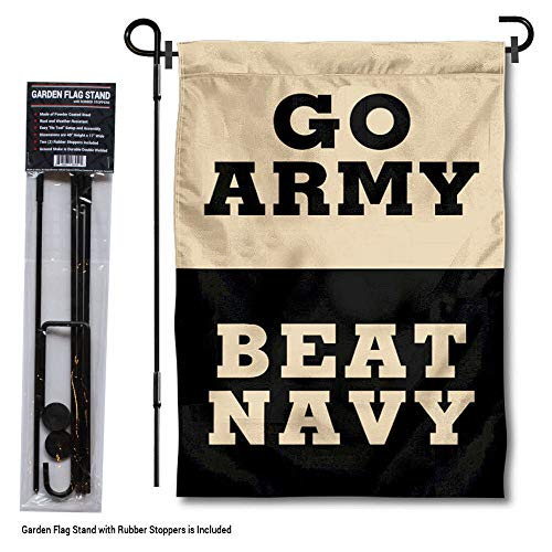College Flags and Banners Co. Army Black Knights Beat Navy Garden Flag with Stand Holder -