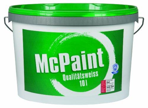 McPaint Wandfarbe Qualitätsweiß für den Innenbereich, matt 10 Liter, weiß - weitere Größen verfügbar
