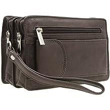 Bolso de mano de cuero genuino para hombres en 3 colores 7fa86e6ce872