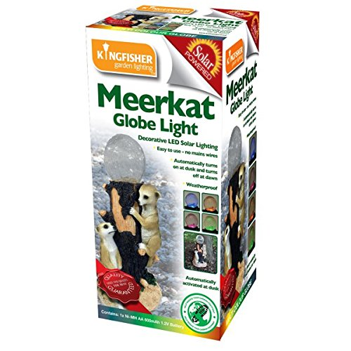 Image of Kingfisher Solar Powered Globe Garden Light with Meerkat