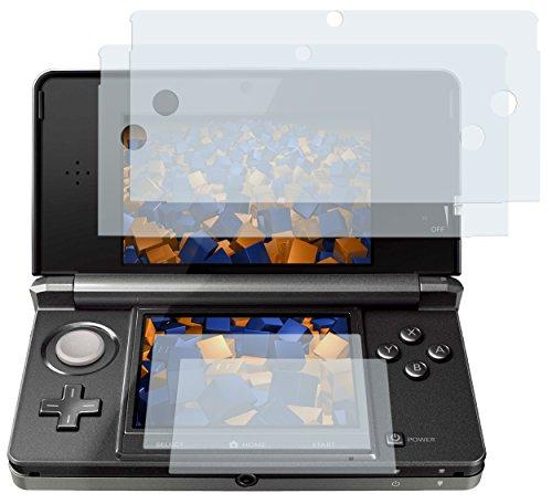 """4x mumbi Displayschutzfolie Nintendo 3DS 3 DS Displayschutz """"CrystalClear"""": 2 x Bildschirm UND 2 x Touchscreen unsichtbar!"""