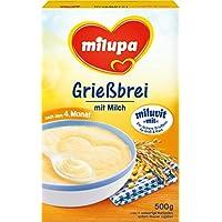 """Milupa Grießbrei mit Milch Miluvit """"mit"""" nach dem 4. Monat, 4er Pack (4 x 500 g Packung)"""