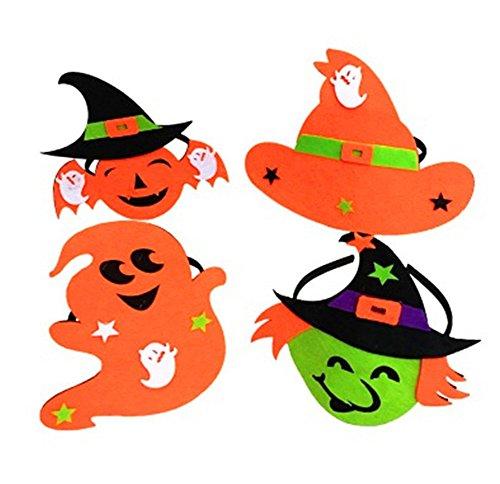 4PCS Halloween-Klassiker, Verkauf sprießen Kopf, Kürbis, Geist, Hexe, Partei liefert (Für Geist Halloween Gelten)