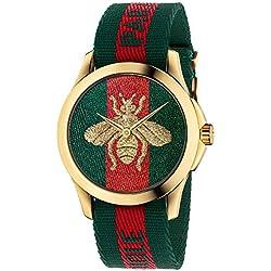 Reloj Gucci YA126487A Rojo Acero 316 L Unisex