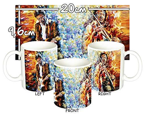 MasTazas Eric Clapton & Jimi Hendrix Tasse Mug -