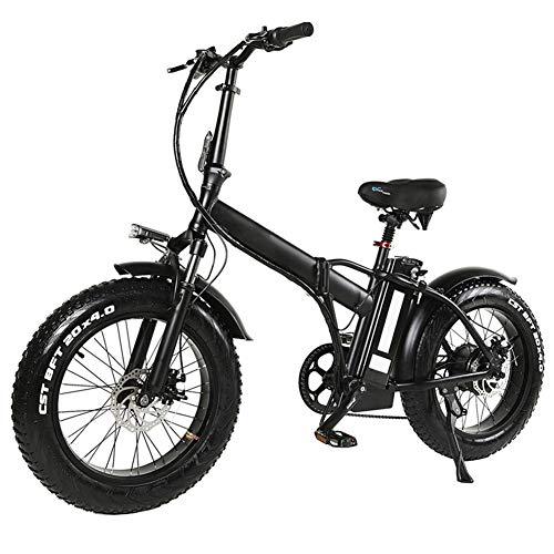 Bicicleta eléctrica plegable bicicleta de montaña para adultos, de 20 pulgadas con motor extraíble...