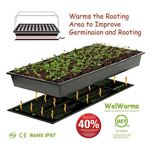TAOtTAO 20x10 '' Keimwachstum Heizkissen Sämling Heat Mat Pflanzensamen Keimung Vermehrungsklon Starter Pad