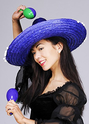 Chapeau lumineux Sombrero mexicain bleu