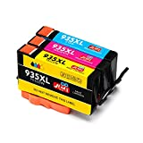 JIMIGO 935 XL 935XL Druckerpatronen Ersatz für HP 935 Tintenpatronen Kompatibel mit HP Officejet Pro 6830 6230 6820 6835 6812 6815