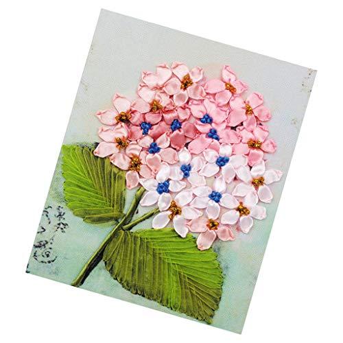 Hellery Gestempelt Kreuzstich Needlepoint Kits Band Stickerei Gedruckt Blumenmuster Stoff Weihnachten Ornament Wandbehang Für Erwachsene Anfänger Wohnkultur -