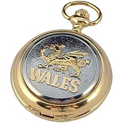 A E Williams Men's Wales Mechanical Pocket Watch Gp4824Wsk