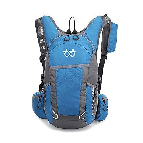 TXJ Wandern Klettern Rucksack Ultraleichte Wasserdichte Outdoor Wanderrucksäcke Radfahren Reiten Reisetaschen, 45 x 25 x 20 cm, 25L (Hellblau)