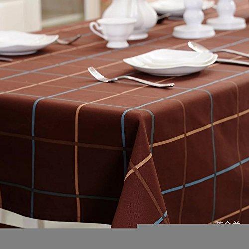 MEICHEN Cucina sala da pranzo salotto Brown Plaid tovaglie tovaglioli da tavola tessuto copertura ristorante tovaglie , 60*60