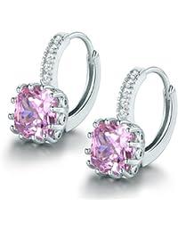 Ohrringe silber mit rosa stein