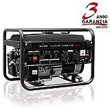 Tecnoware Generatore Elettrico, Monofase 230 Vac, 50 Hz, Motore a Scoppio, Capacità Serbatoio 15 l, 3.200 VA