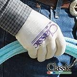 Classic Equine Roping Handschuh 12Stück M weiß / blau