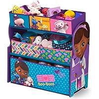 Preisvergleich für Delta Children's Products Disney Doc McStuffins Multi Toy Organizer für Spielzeug aus Holz mit Textilschubladen Aufbewahrungsbox mit Schubladen