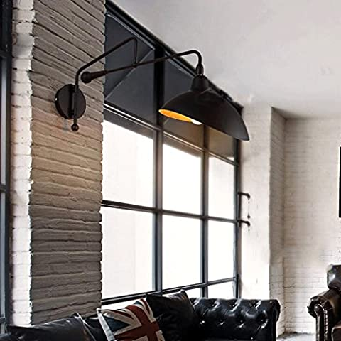 FHK,Wandleuchten Wand kreativ retro Loft Wohnzimmer Esszimmer Flur amerikanische Windindustrie Iron Wall Persönlichkeit Café Dekorative Wandleuchten ( Farbe : A )