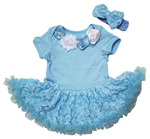 (Petitebelle Baby Mädchen (0-24 Monate) Body Blau Hellblau)