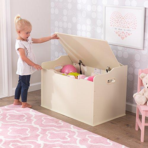 KidKraft Spielzeugtruhe Austin – Vanille, 77,6×46,4×49,8cm - 4