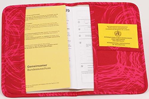 Praktischer roter Mutterpass Organizer mit Innenfach