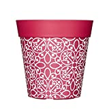 Blumentöpfe in unterschiedlichen Farben, bunte Pflanzgefäße, Blumentöpfe, Garten-Töpfe, 22cm, Kunststoff-Topf, plastik, Pink/Gitter, 5 l