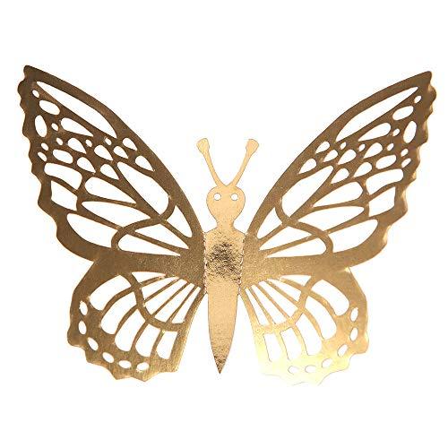 Sanahy Wandaufkleber Simulationsschmetterling Dekoration 3D Openwork Schmetterling Raumdekoration stereoskopisch Metallfarbe