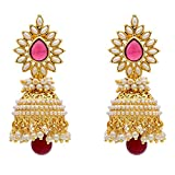 Awww Stylish and Trendy Gold Plated Pearl Jhumki Earring For Women and Girls