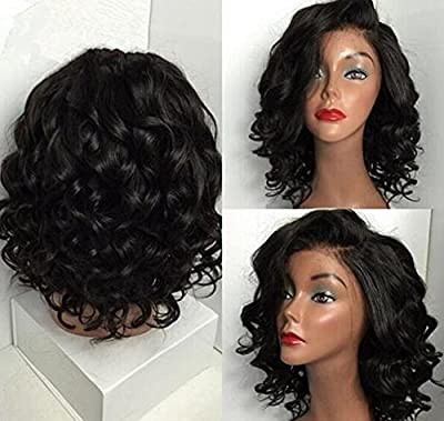 HonorHair Short Human Hair Wigs For Black Women Brazilian Virgin Hair Lace Front Wigs from HonorHair